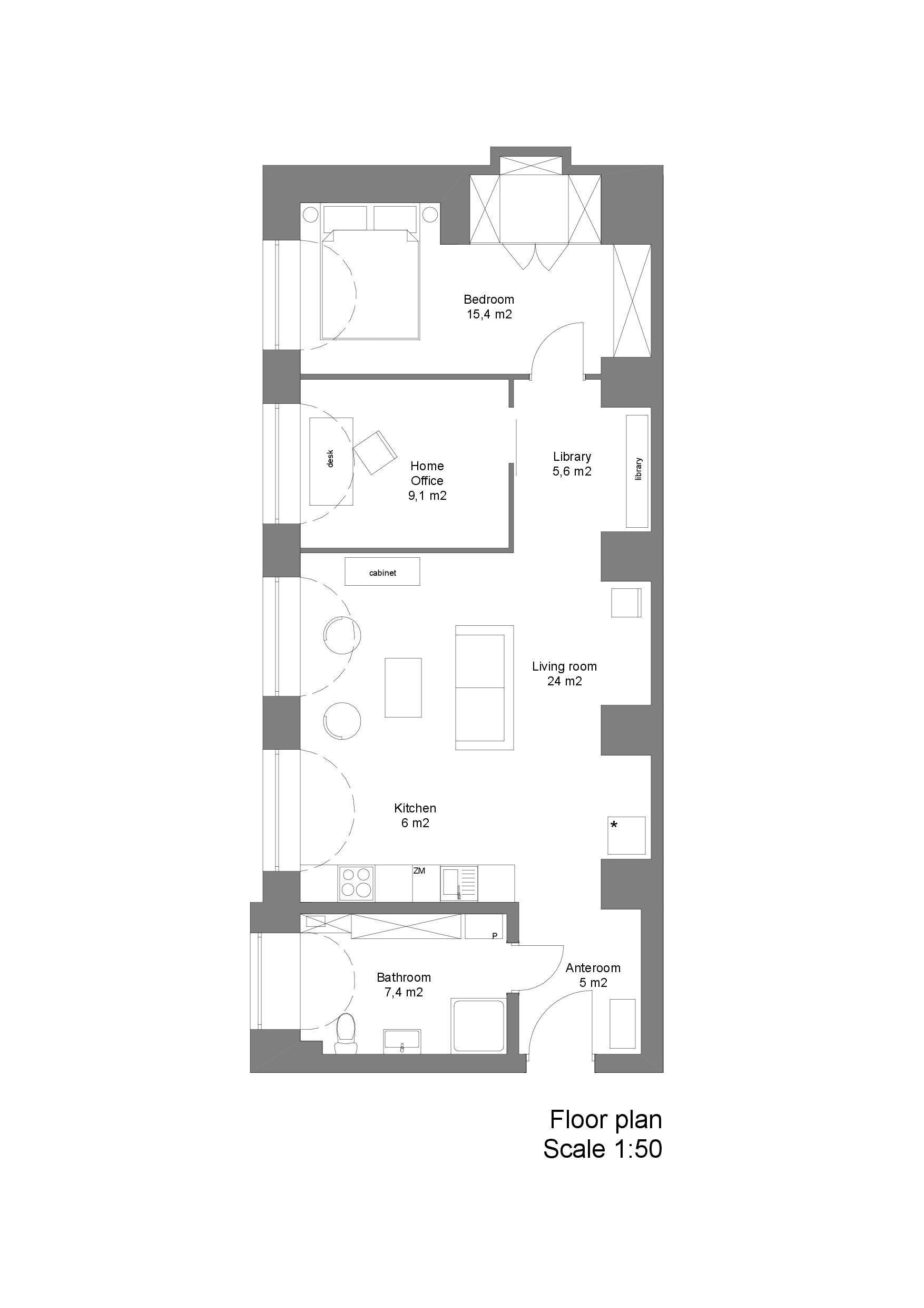 Loft in a Marmalade Factory - Loft Szczecin - Poland - Floor Plan - Humble Homes