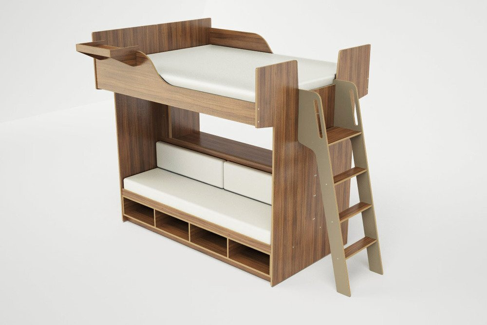 Lofted Beds - Casa Kids - Urbano - Bed with Sofa 2 - Humble Homes