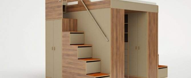 Lofted Beds - Casa Kids - Urbano - Bed with Storage - Humble Homes