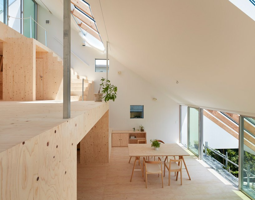 Reslope House - Tomohiro Hata - Kobe - Dining Area - Humble Homes