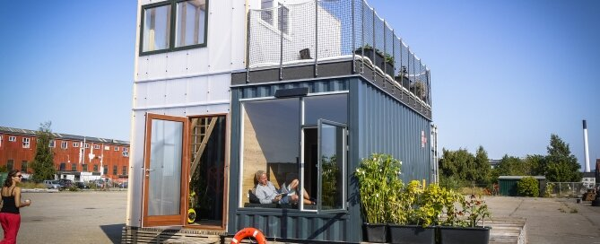 Student Container Housing - CPH Containers - Vandkunsten Architects - Copenhagen - Exterior - Humble Homes
