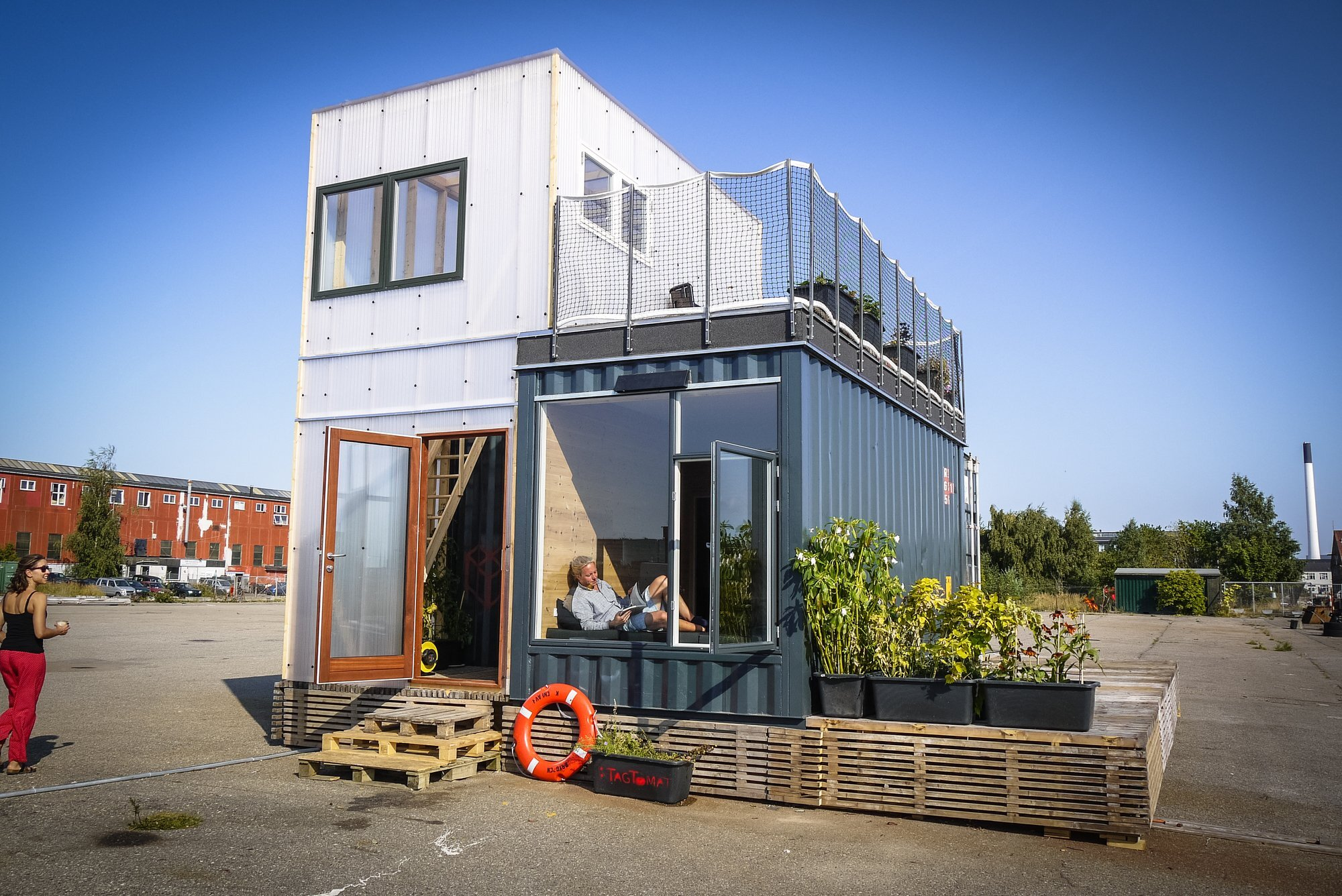 a student village made of container homes in copenhagencph