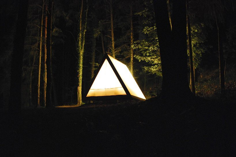 Lushna Villas - Lushna - Bled Solvenia - Cabin at Night - Humble Homes