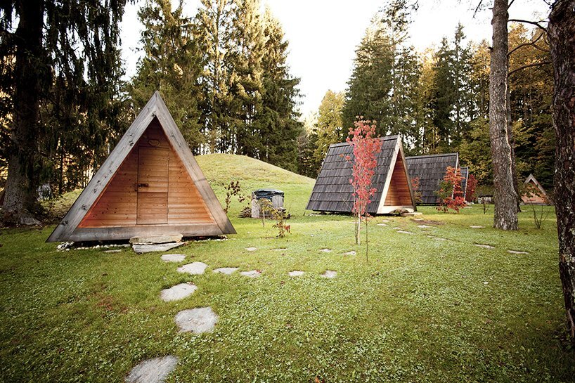 Micro A-Frame Glamping Cabins from Slovenia by Lushna