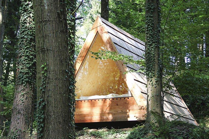 Lushna Villas - Lushna - Bled Solvenia - Rear of Cabin - Humble Homes