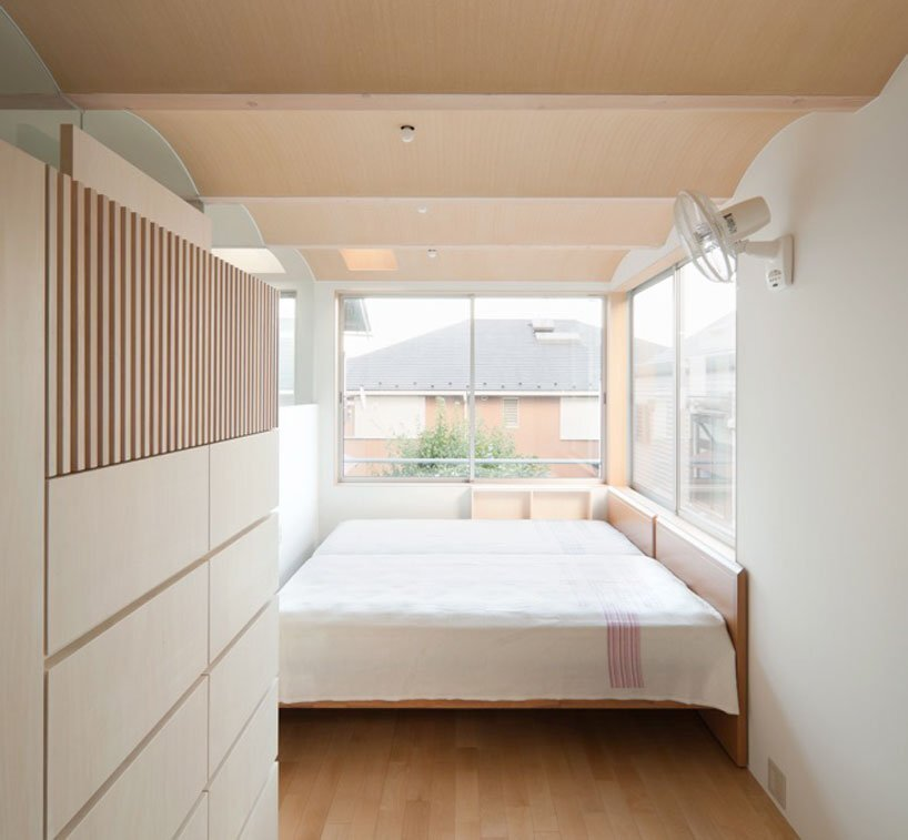 Nami Nami House - Flathouse Architects - Japan - Bedroom - Humble Homes