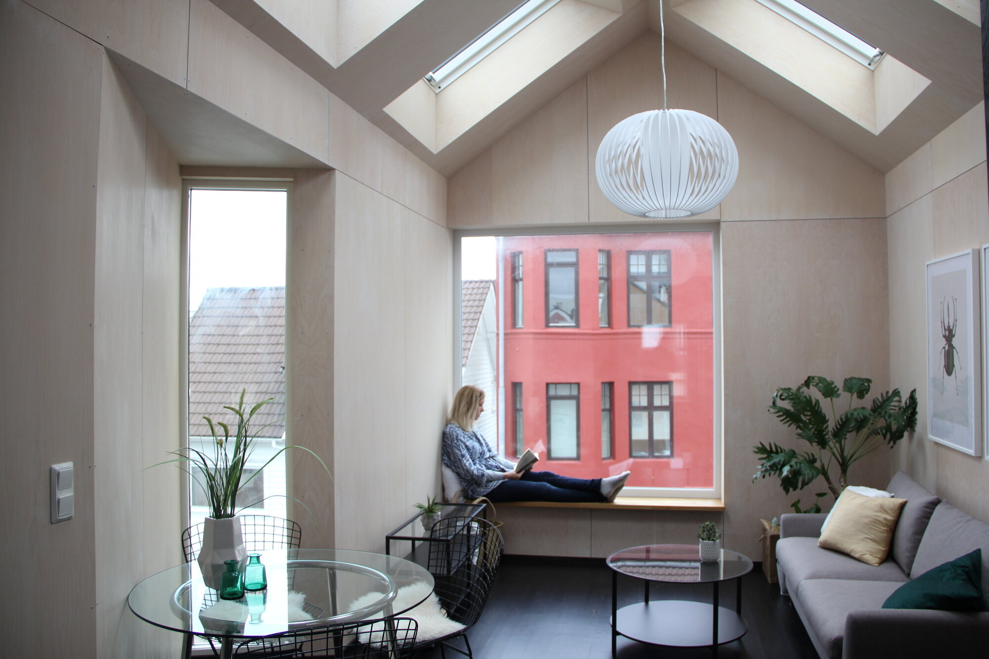 Small Terrace House - House in Stravanger - Austigard Arkitektur - Norway - Living Room - Humble Homes
