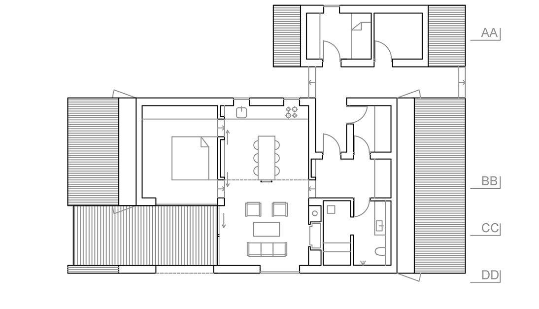 Cabin Vindheim - Vardehaugen - Norway - Floor Plan - Humble Homes