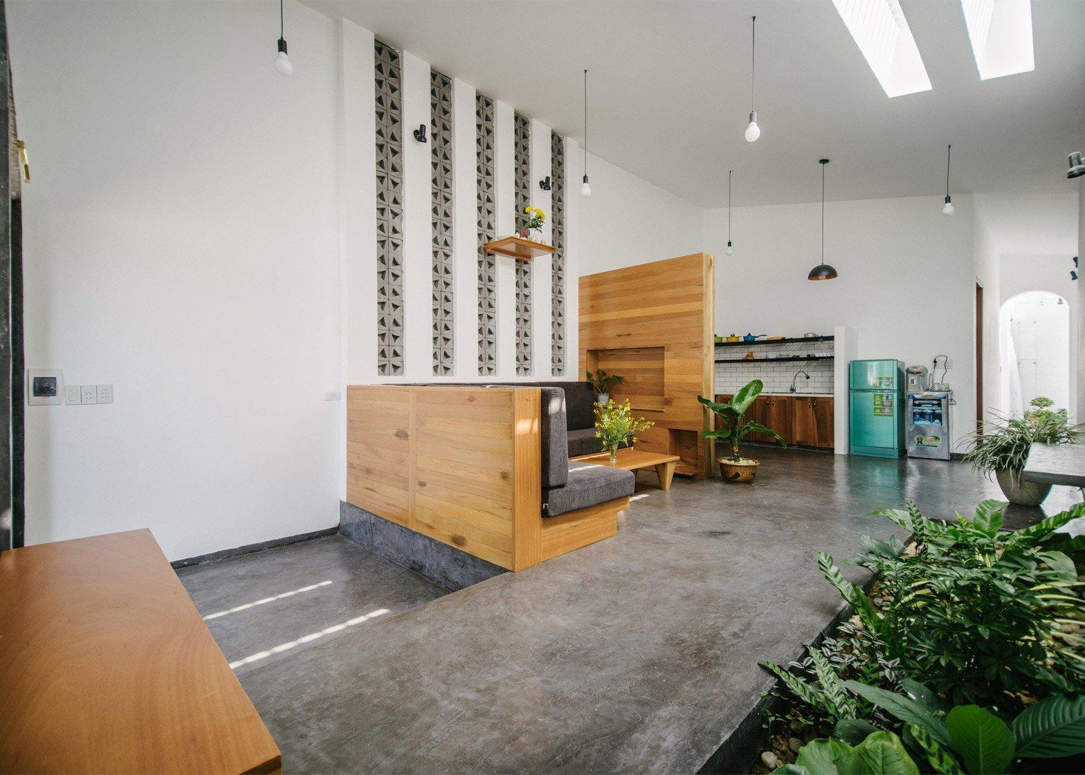 Kontum House - Khuon Studio - Vietnam - Kitchen and Living Area - Humble Homes