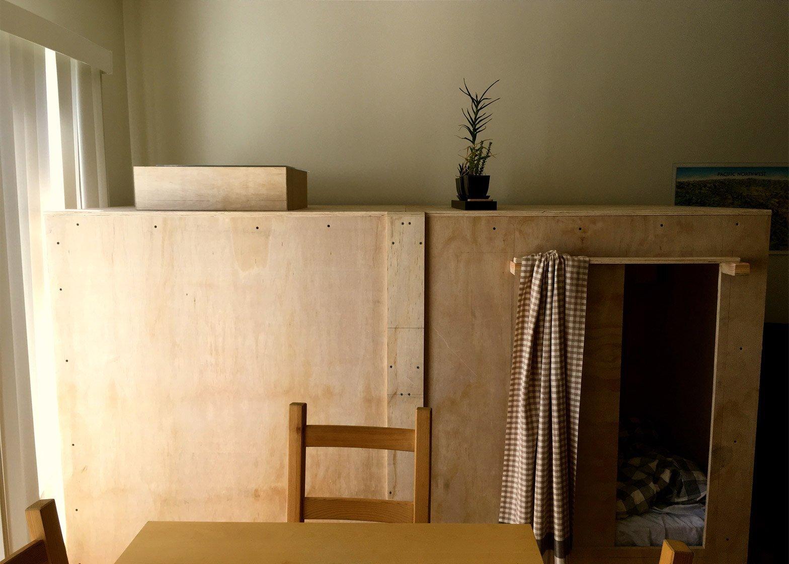 Living in a Pod - Peter Berkowitz - San Francisco - Pod with door open - Humble Homes