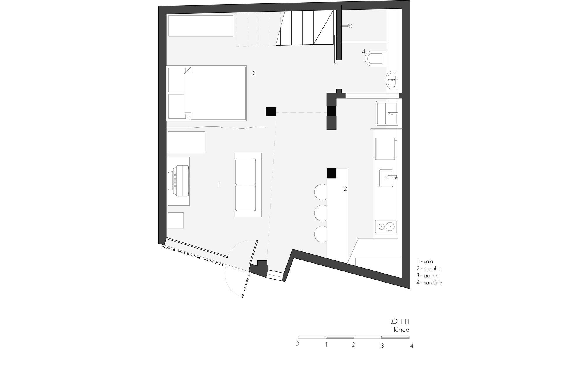Loft Grandpa - MEIUS Arquitetura -  Brazil - First Floor Plan - Humble Homes