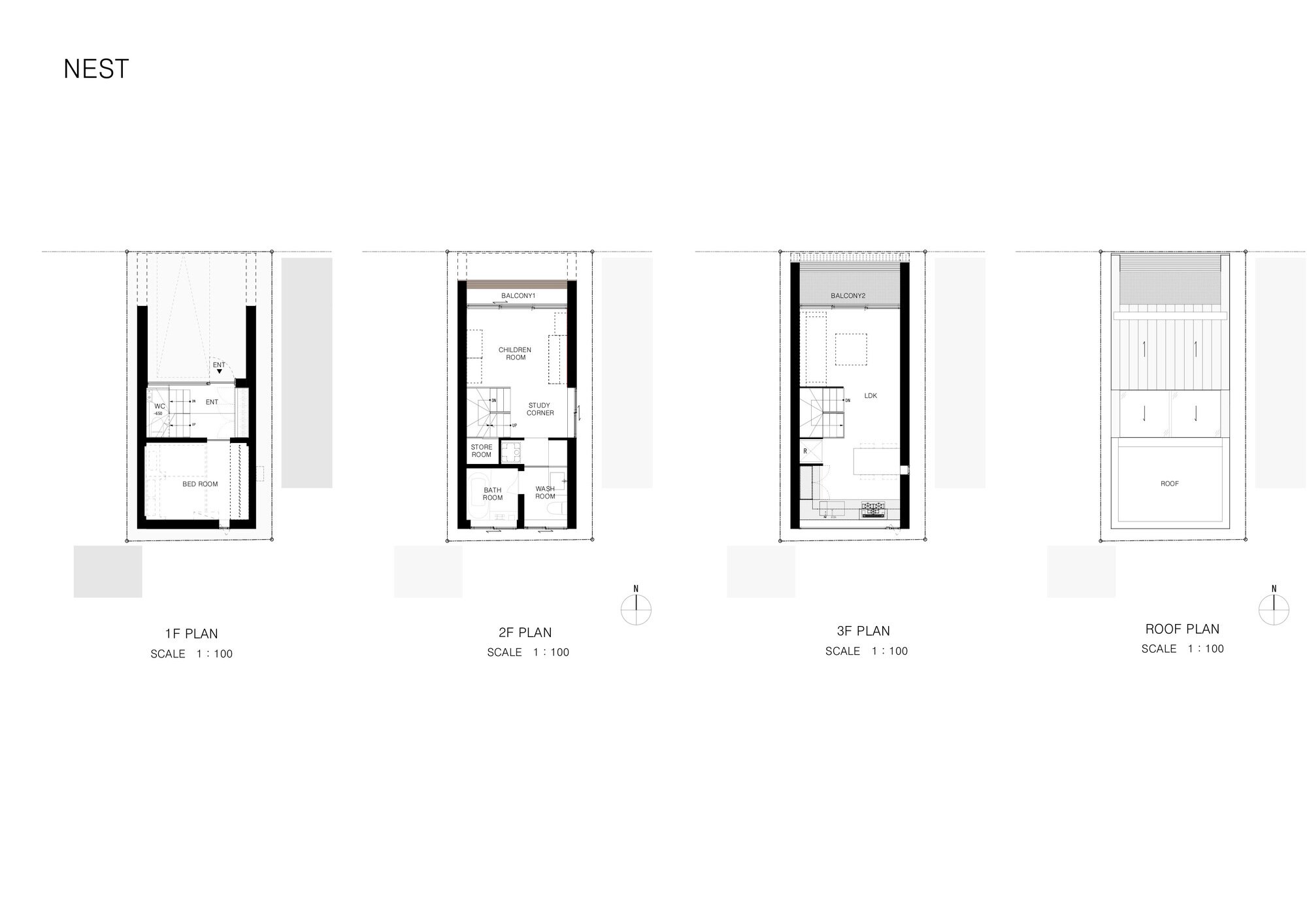 Nest - APOLLO Architects - Japan - Floor Plan - Humble Homes