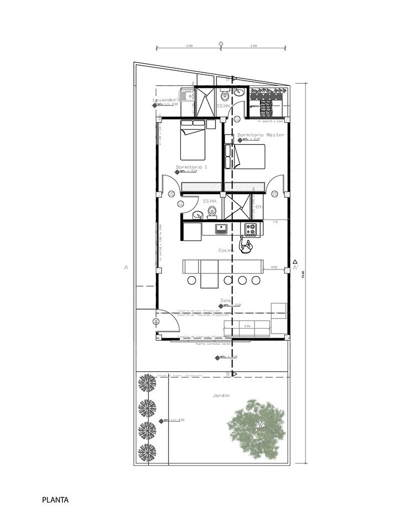 Social House Project - Natura Futura Arquitectura - Ecuador - Floor Plan - Humble Homes