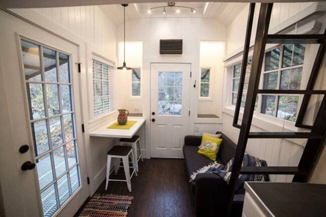 Tiny House by Patrick and Sarah Romero - Utah - Living Area - Humble Homes