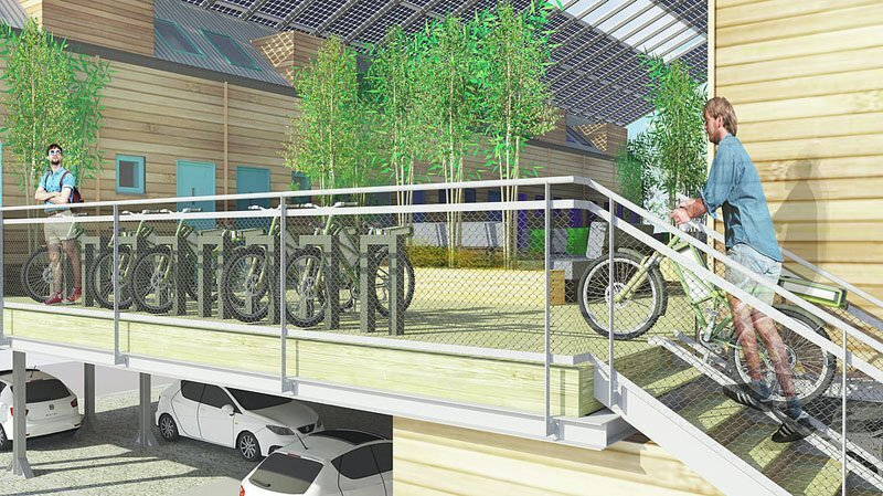 ZedPod - Zed Factory and Bill Dunster Architects - Bike Rack and Parking - Humble Homes