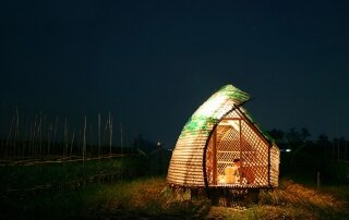 Bottle Seedling House Protects Plants and People from Typhoons