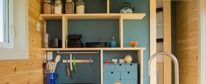 Harmony House - Full Moon Tiny Shelters - Nova Scotia - Kitchen - Humble Homes