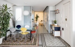 Decorative Tiles Define Living Spaces in this Historic Apartment Renovation