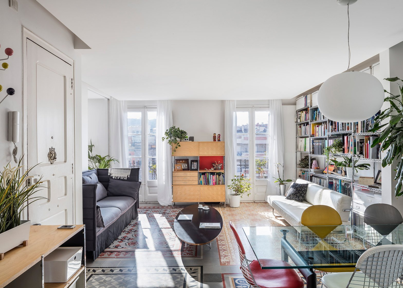 Historic Apartment Renovation - Nach - Barcelona - Living Room 2 - Humble Homes