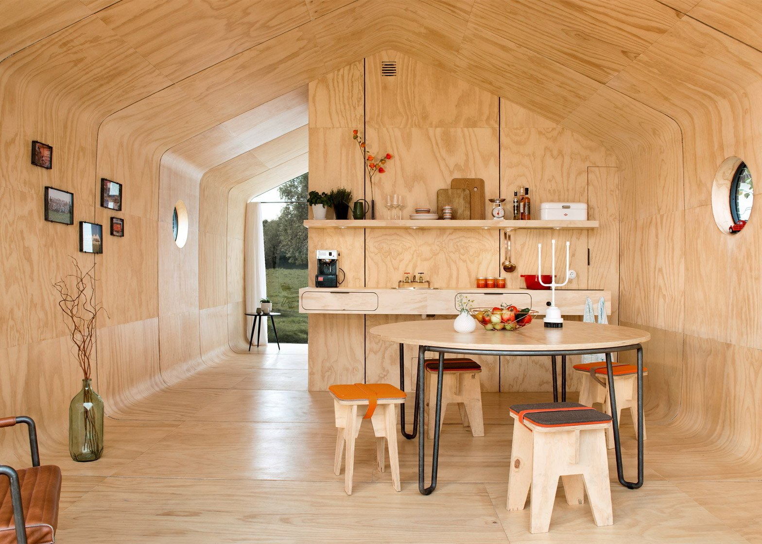 Wikkelhouse - Fiction Factory - Amsterdam - Kitchen Dining Area - Humble Homes