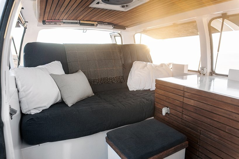 Chevy Cargo Van Conversion - Zach Both - Bed as Sofa - Humble Homes