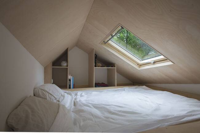 Dutch Minimalist Tiny House - Marjolein Jonker - The Netherlands - Loft Bedroom - Humble Homes