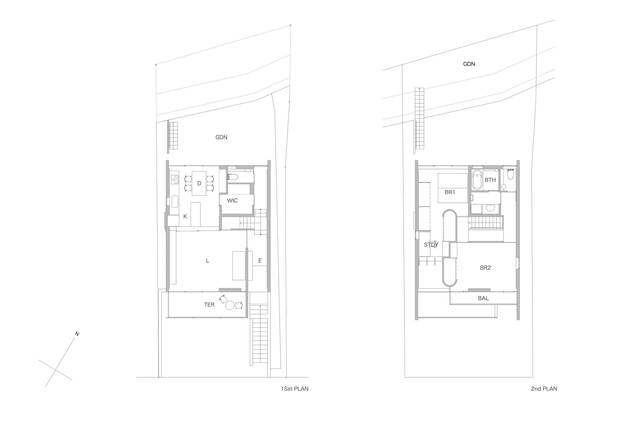 House in Midorigaoka - Yutaka Yoshida Architect & Associates - Japan - Floor Plans - Humble Homes