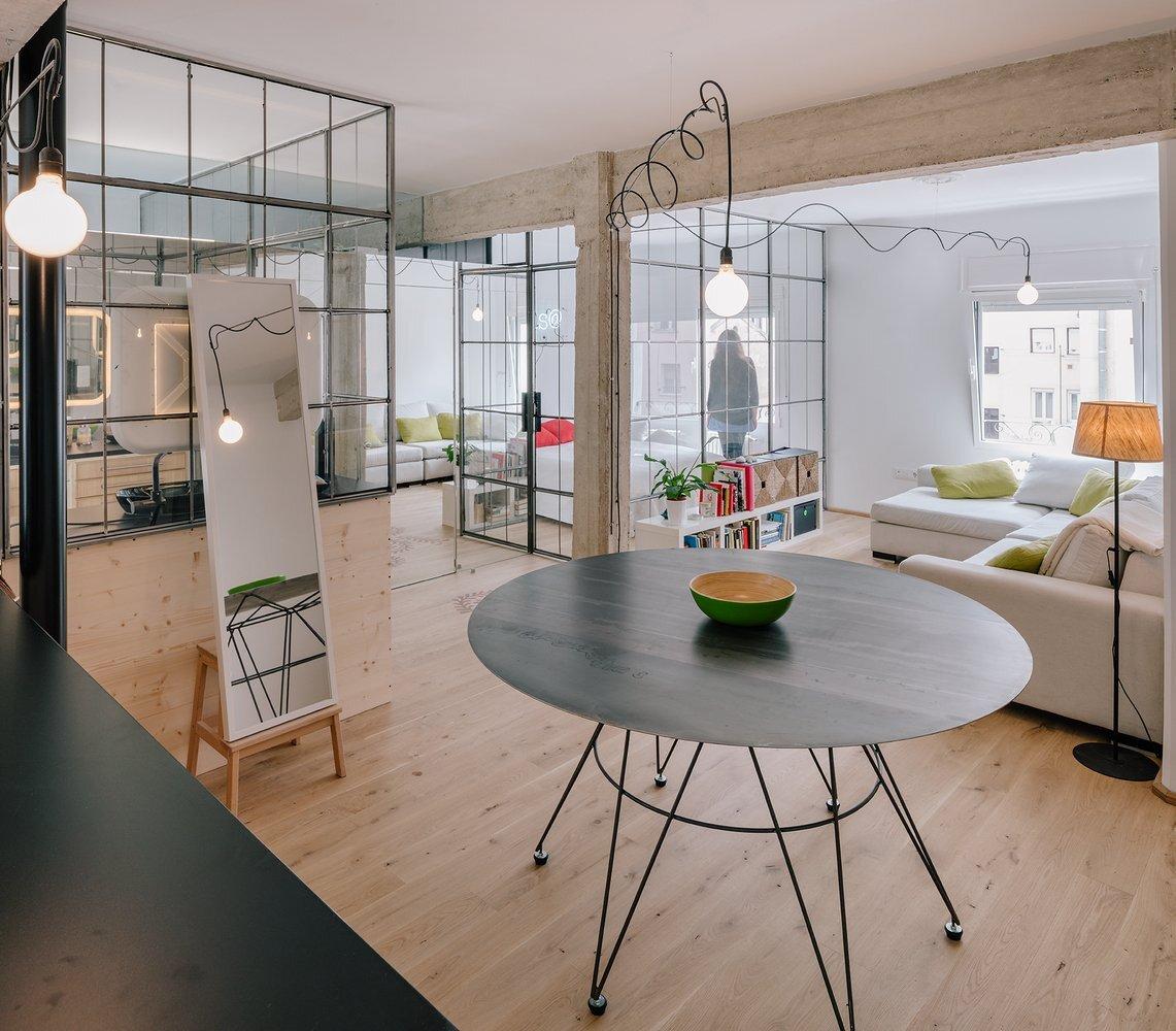 Parais   Manuel Oca a   Madrid Spain   Living Room   Humble Homes. Parais    An Apartment Redesign with Glass Partition Walls