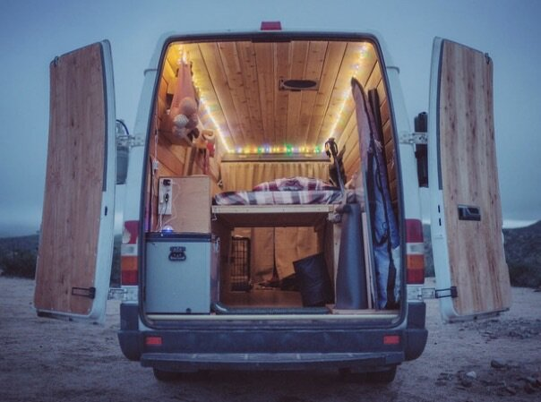 Sprinter Van Conversion - Cyrus Sutton - View from Back Doors - Humble Homes