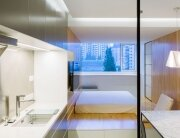 Apartment 37 - Atelier Mearc - China - Kitchen Leading to Bedroom - Humble Homes