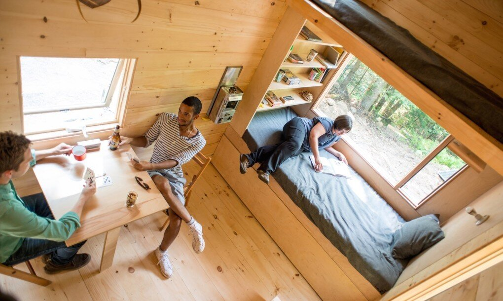 Getaway Tiny House - Millennial Housing Lab Harvard - Boston - Bedroom and Dining Area - Humble Homes