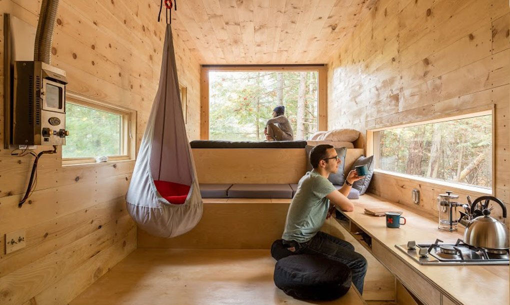Getaway Tiny House - Millennial Housing Lab Harvard - Boston - Living Room 2 - Humble Homes