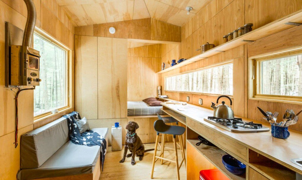 Getaway Tiny House - Millennial Housing Lab Harvard - Boston - Living Room - Humble Homes
