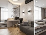 Neutral Apartment - Igor Glushan - Russia - Living Area - Humble Homes