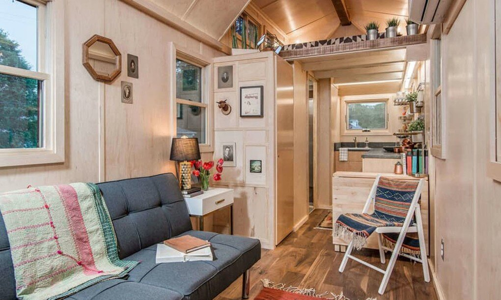 Riverside Tiny House - New Frontier Tiny Homes - Tennessee - Living Area 1 - Humble Homes
