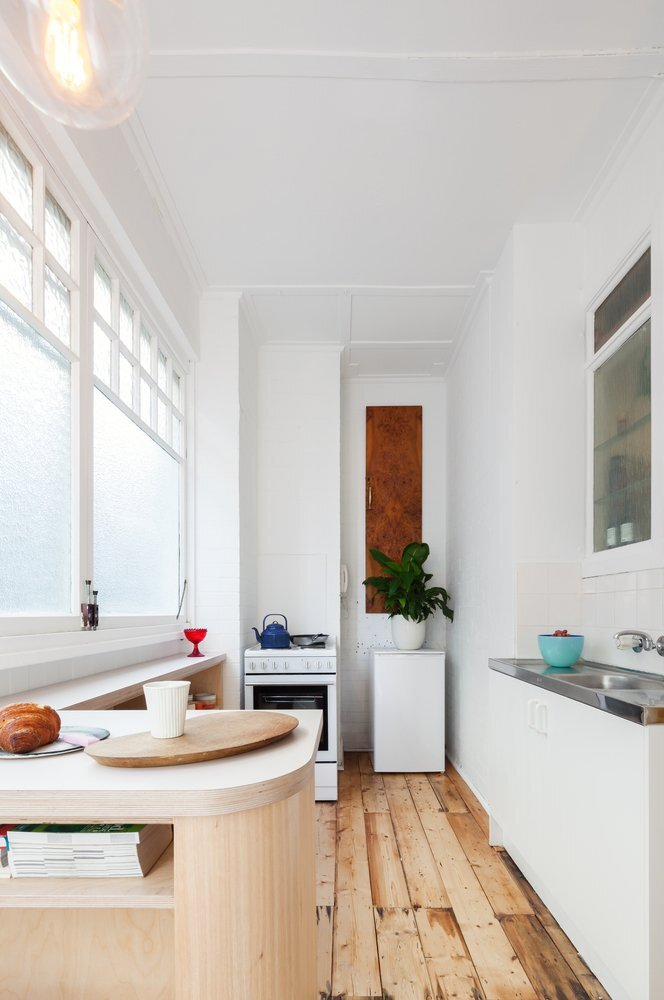 Small and Sculpted Studio Apartment - Catseye Bay Design - Darlinghurst Australia - Kitchen - Humble Homes
