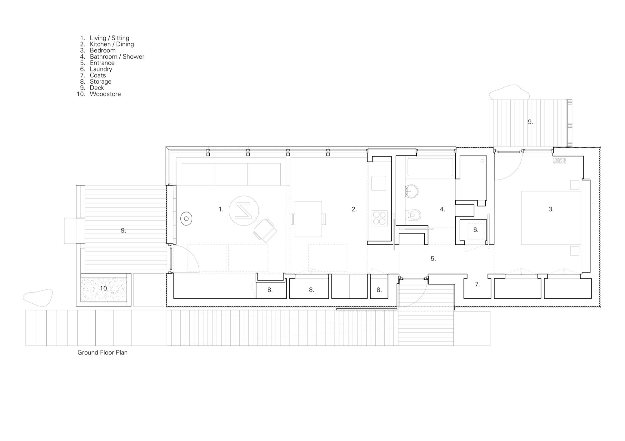 Tinhouse - Rural Design - Skye - Floor Plan - Humble Homes