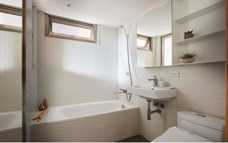 Tiny Apartment - A Little Design - Taipei Taiwan - Bathroom - Humble Homes
