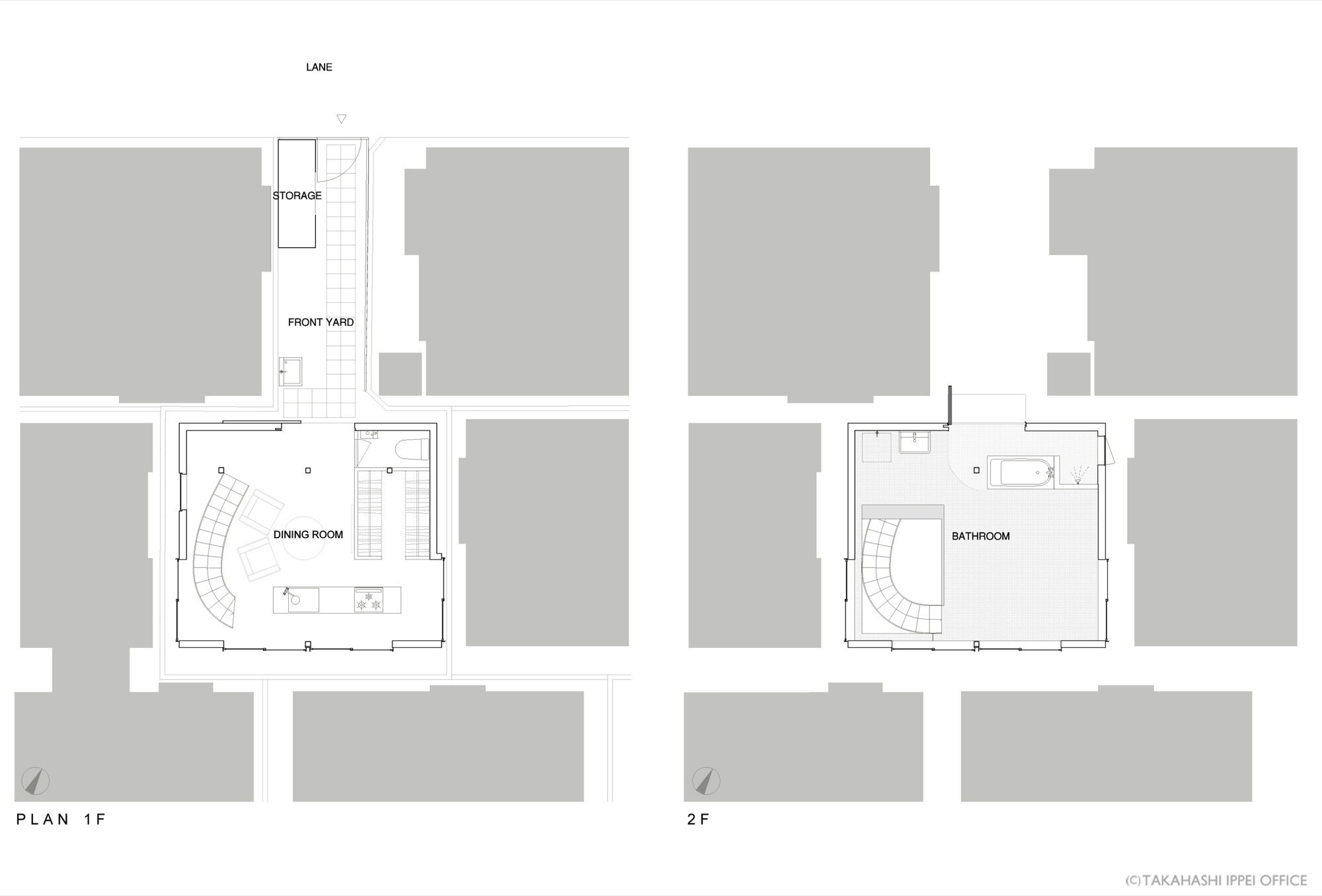 CASA O - Takahashi Ippei Office - Tokyo Japan - Floor Plan - Humble Homes