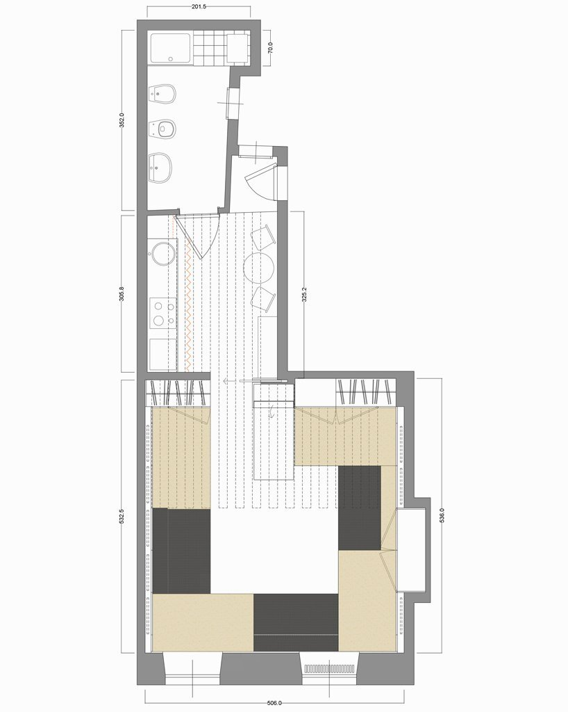 Compact Studio Design - Silvia Allori - Florence Italy - Floor Plan - Humble Homes