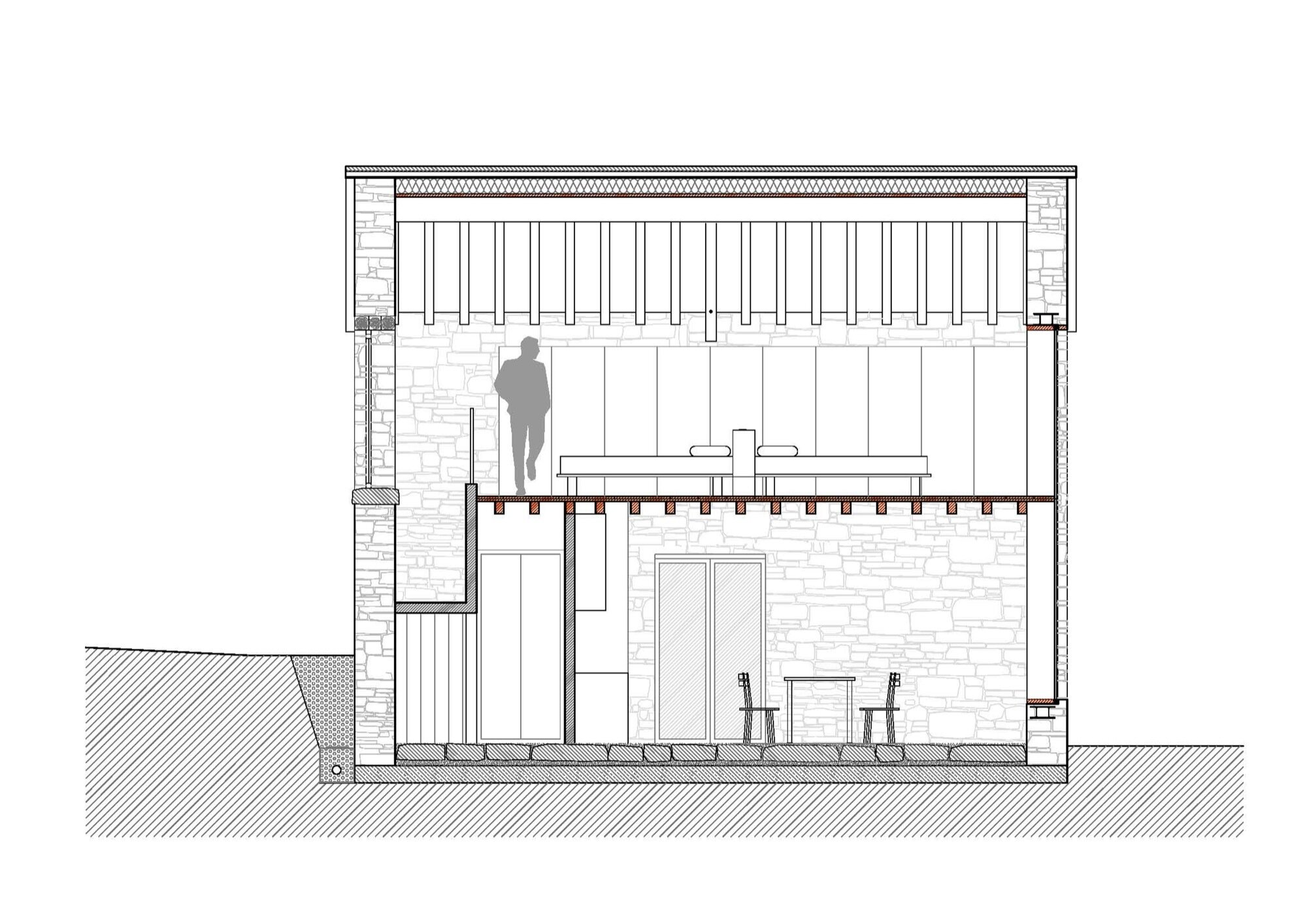 Cottage Restoration - Studio Contini - Italy - Cross-Section - Humble Homes