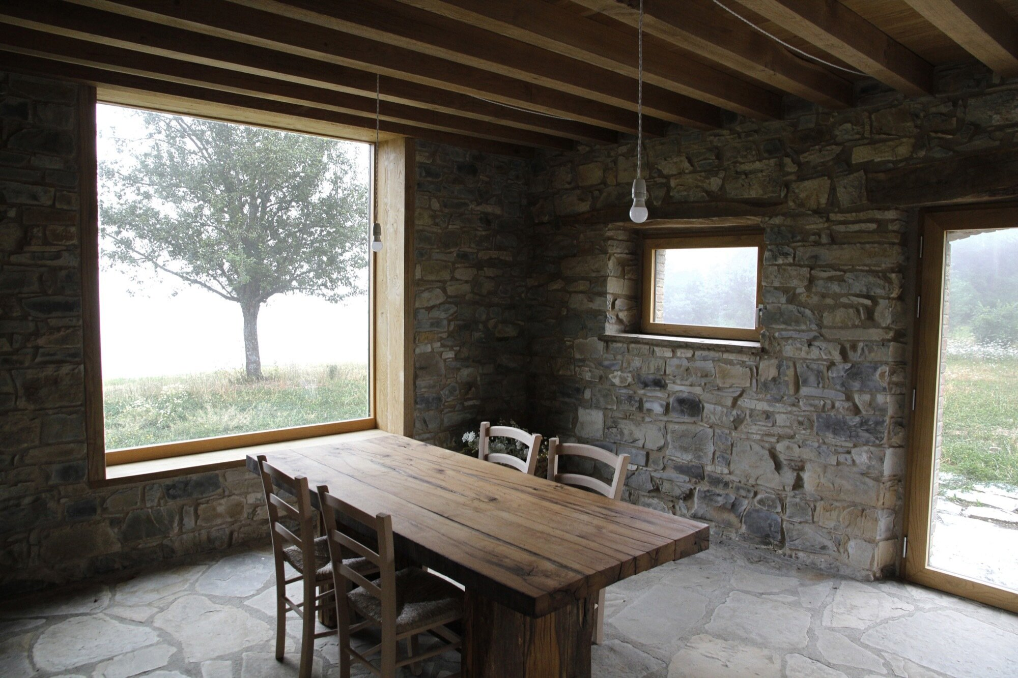 Cottage Restoration - Studio Contini - Italy - Dining and Living Room - Humble Homes