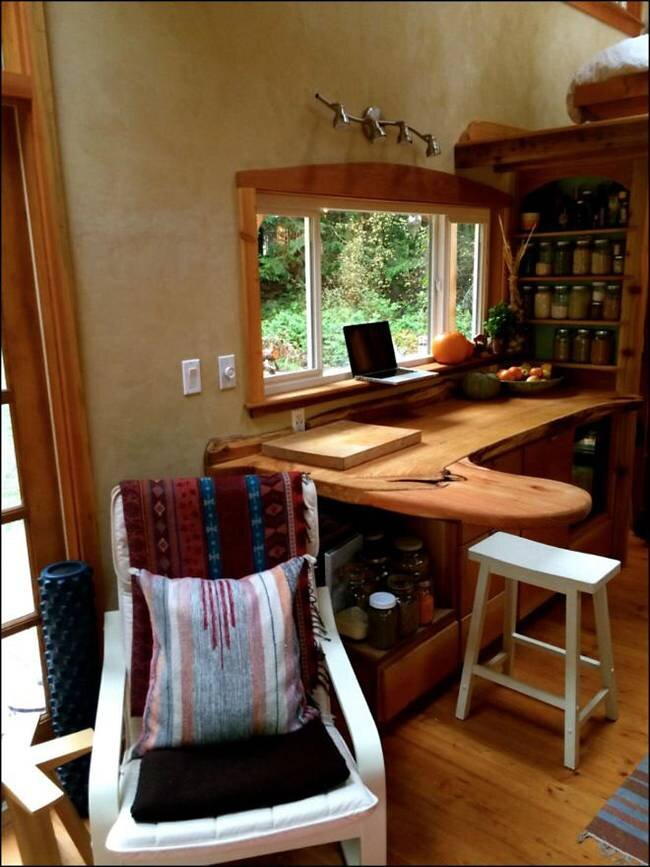Keva Tiny House - Rebecca Grim - Salt Spring Island - Workstation - Humble Homes