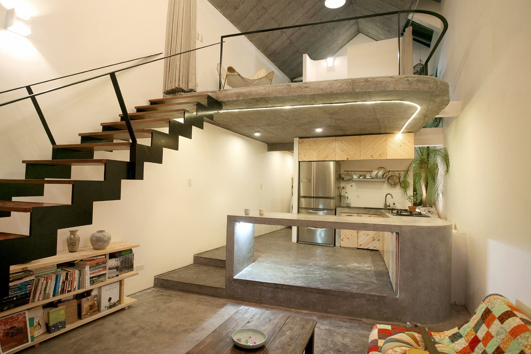 Maison T - Nghia-Architect - Vietnam - Living Area and Kitchen - Humble Homes