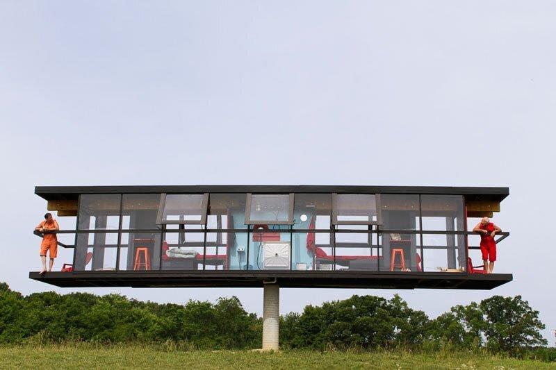 ReActor Rotating House - OMI Alex Schweder- Ghent New York - Exterior 1 - Humble Homes