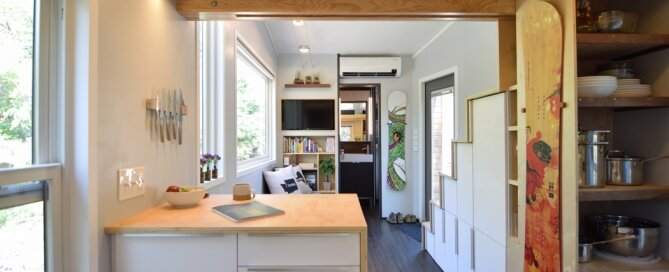 SHED - Shedsistence - Washington - Kitchen and Living Room Beyond - Humble Homes