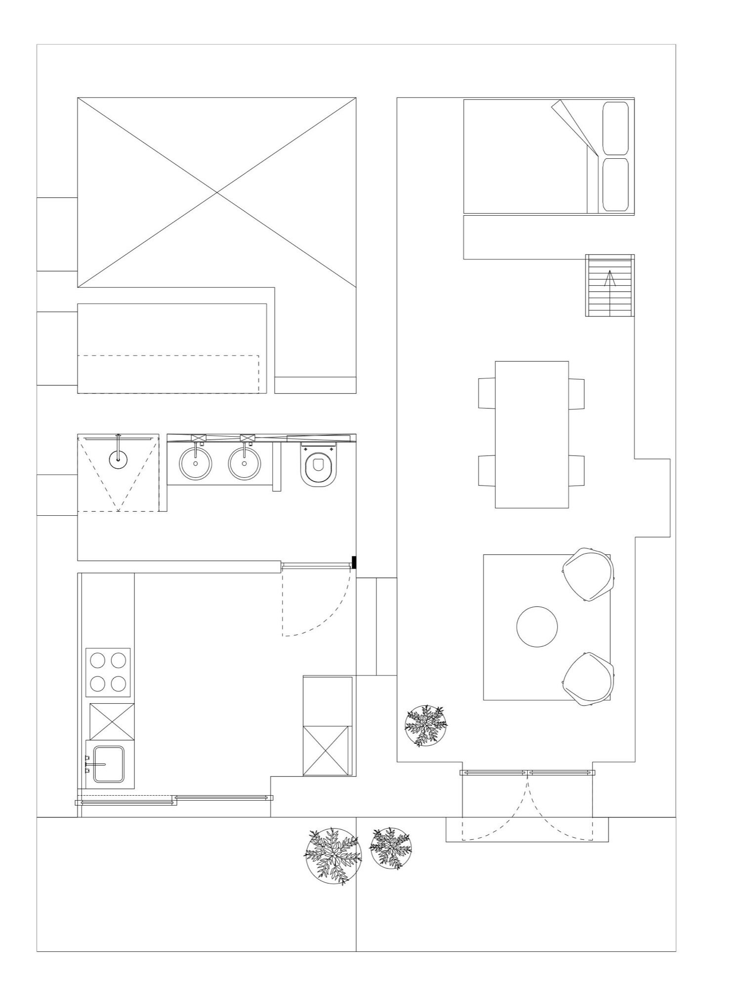 The Little House in the Campo - Standard Studio - Spain - Floor Plan - Humble Homes