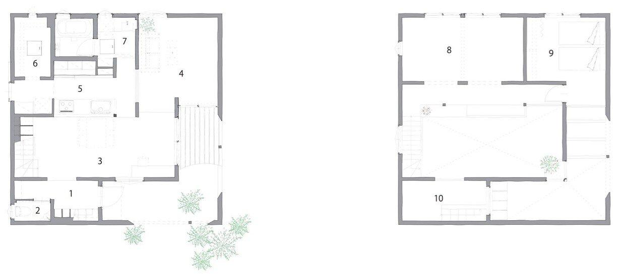 Uzi House - ALTS Design Office - Hironocho Kyoto - Floor Plans - Humble Homes