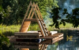 Veetee – A Floating Timber Pavilion from Soomaa National Park, Estonia