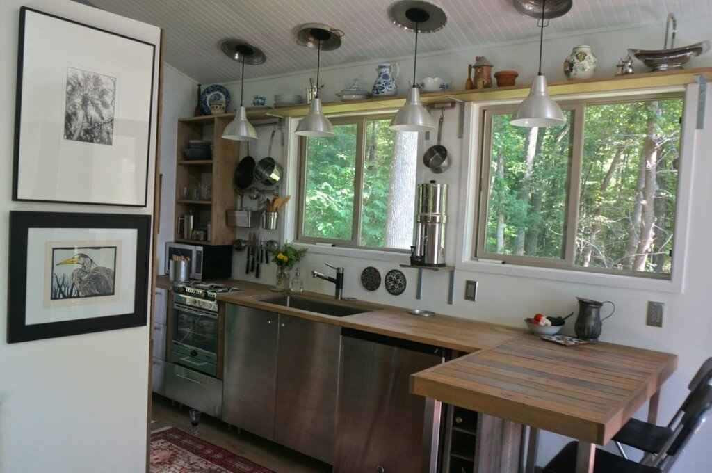 An Owner Built Tiny House Among the Blue Ridge Mountains of Virginia